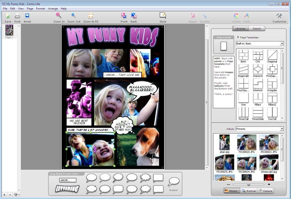 Comic Life Ekran Görüntüleri - 1