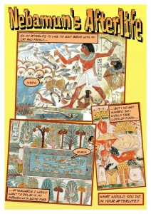 Students use Comic Life to create a photo comic about ancient Egypt.