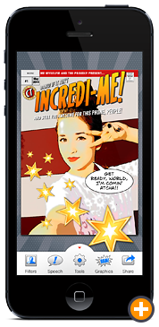 Comic Touch by plasq: A final comic book cover on the iPhone