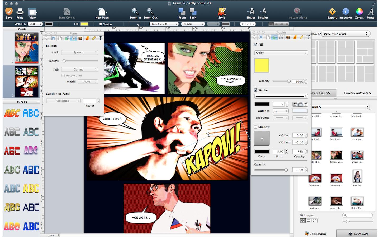 Как делать из фото комиксы