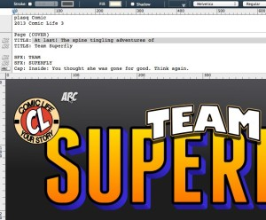 Team Superfly.comiclife SCRIPT EDITOR