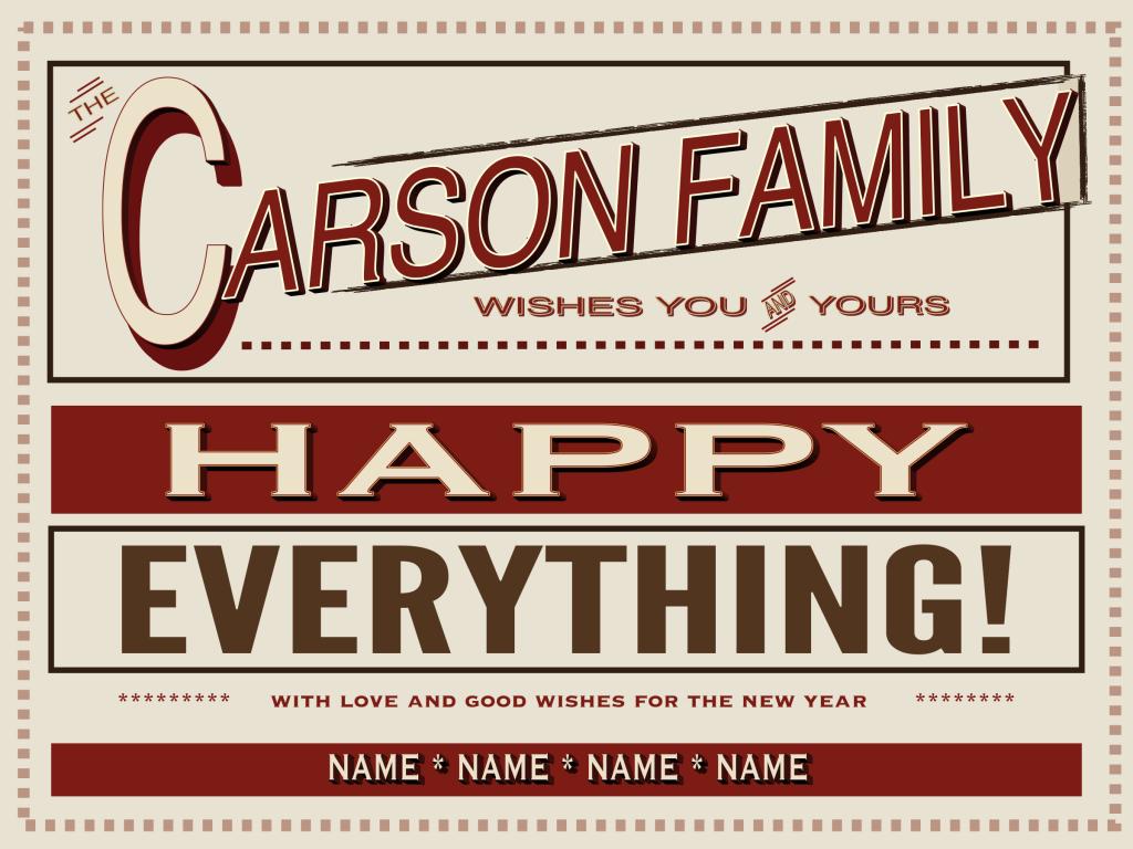Holiday card created using Comic Life 3