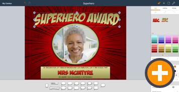 Comic Life Chromebook Superhero Award
