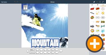 Comic Life Chromebook Winter Template